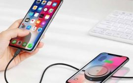 Baseus 2-in-1 Data Line 8 Wireless Charger