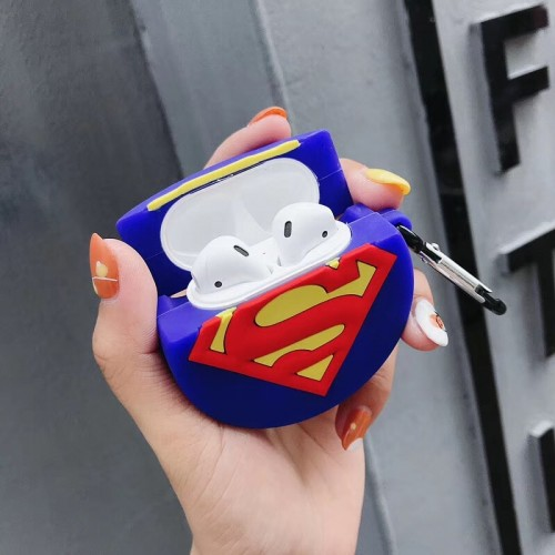 Superman Silicone Protective Case Cover for Apple AirPods 1 & 2 ( Airpods Not Included )