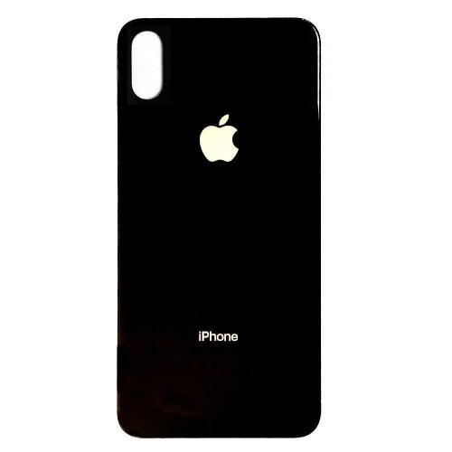 iPhone x Back tempered glass ( Black )