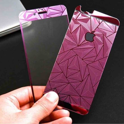 Apple iPhone 6 Plus / 6S Plus  3D Diamond colour mirror Tempered glass film Purple