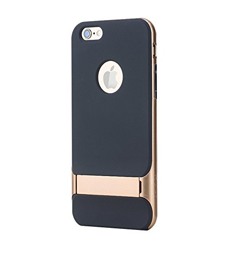 APPLE IPHONE 6/6S ROCK ROYCE 3 GOLD HYBRID CASE WITH KICKSTAND