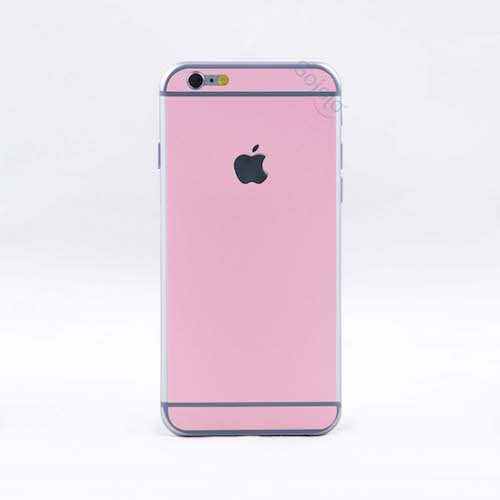 Apple iPhone 6/6s Matte Front & Back Split Mobile skin for Apple iPhone ( Baby Pink )
