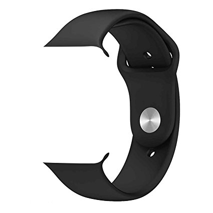 iWATCH Silicon Strap Band 42Mm/44mm - Black (Watch Not Included)