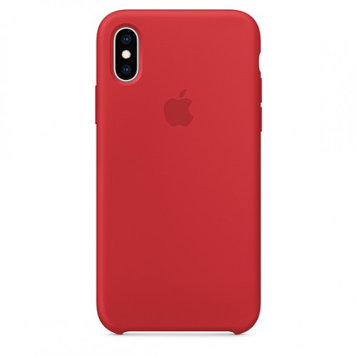 Apple iPhone Silicone Case For IPhone X/Xs Silicone Case — Red
