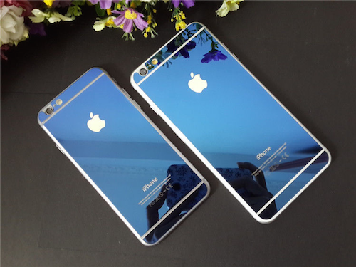 iPhone 6/6s  Coloured Electroplated Mirror Screen Guard ( Blue )